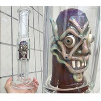 Wholesale crazy price - factory price wholesale crazy face ,2015 new glass bong 18.8mm female highly 13.77 inch Free shipping