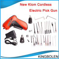 Wholesale Klom Lock Gun Shipping - New Klom Cordless Electric Pick Gun Locksmith Tools Lock pick Electric lock Pick Gun Free Shipping