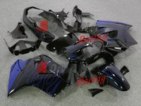 vfr kaplama takımı toptan satış-2014 Sıcak Mavi Alevler Fairings ABS Plastik Kaporta Seti kiti VFR 800 1998-2001 077