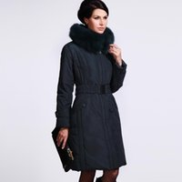 Wholesale Women Long Winter Puffer Jacket - Wholesale-Winter Coat Women 2015 Plus-size Winter Jackets Women Large Fox Fur Puffer Down Coat Long Parkas Women's Down Jacket 1303