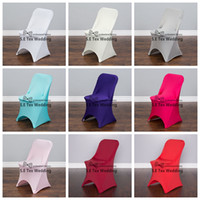 Wholesale Cheap Spandex Chair Covers Wholesale - 50pcs Cheap Price Spandex Folding Chair Cover Banquet Lycra Chair Cover For Wedding Decoration Free to Door Shipping
