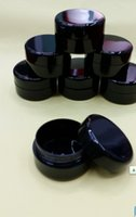 Wholesale Lily g Empty Plastic Black White Anti UV Jar Cosmetic Cream compact sample Bottle Makeup Craft Ointment