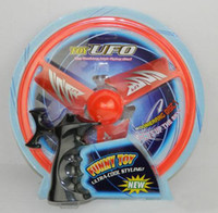 Wholesale Toy Flying Disc Boomerang - 24.5*3 Toy Flash Flyer Indoor Outdoor Flying Disc Boomerang Easy to Launch frisbee 3 Color 00862