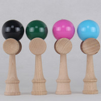 Wholesale Paint Free Games - hot Japanese Traditional Wood Game Toy high quality mini Kendama Ball PU Paint 12.5CM free shipping
