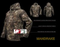 Wholesale Combat Hoodie - Tactical MANDRAKE Waterproof Army Coats Outerwear Hoodie Hunting Hoodie Sniper Jacket Combat Ripstop Shirt Kryptek style
