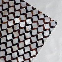 telha de material venda por atacado-[FRETE GRÁTIS] cor Natural MOP shell Tile, telha sem costura para a parede, piso, móveis de decoração, rio shell Pen shell material # MS139