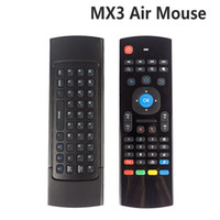 Wholesale smart tv box fly mouse - X8 Air Fly Mouse MX3 2.4GHz Wireless Keyboard Remote Control Somatosensory IR Learning 6 Axis without Mic for Android TV Box Smart IPTV