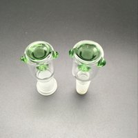 Wholesale Glass Pipe Fittings - Glass Bowl with Honeycomb Screen Round 14mm and 18mm Female Male joint 3 Color optional fit for Glass bongs Glass water Pipe