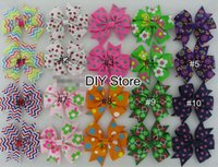 Wholesale free shipping braiding hair for sale - Group buy Baby Girls Cartoon Hairbows WITHOUT Clip Pinwheel Hair Bows Baby Hair Accessories