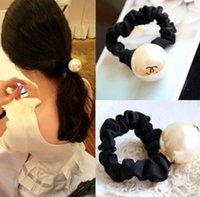 Wholesale Cute Hair Bands For Girls - 2015Newest Free shipping hotsale 12pcs lot fashion big pearl hair bands for girls cute hair accessories