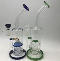 Wholesale Animal Pipes - Glass Bong Water Pipes Bong Dab Oil Rigs Cute animal double honeycomb perc smoking pipe with bowl dome nail Heady Wax Rig Octopus