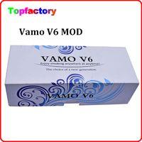 Wholesale Mini Vamo - Vamo V6 Mechanical Mod 18650 18350 Battery Body tube Variable Voltage Mod with OLED screen for Aerotank mega mini protank 3 atomizer