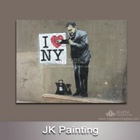 Wholesale Painting Home Images - Wholesale Banksy Canvas Art Painting Canvas Picture from Digital Image for Home Decorative Painting -- Banksy Canvas Artwork