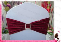 Gros-Bourgogne Couleur pourpre simple couche Bands Lycra / Chair Jupettes avec Square diamant BucklePin Pour Wedding Party Banquet