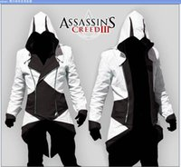 Wholesale Woman Assassin S Creed Costumes - Wholesale and retai Assassins Creed 3 III Connor Kenway jacket men women kids jackets Hoodies cosplay halloween Costumes