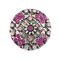 Wholesale butterfly accessories sales for sale - NSB2056 Hot Sale Snap Buttons Jewelry Vintage mm Snaps Fashion DIY Charms Butterfly Crystal Snaps