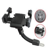 gps-pads großhandel-Universal-Handyhalter Motorrad Halterung Stand Cradle Rearview Halterung für iPhone 6S / 6S Plus für Samsung GPS PAD