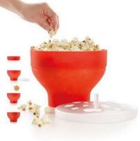 ingrosso coperchi coperti-Pop Corn Ciotola con coperchio Microonde pieghevole Popcorn Maker Microonde Cucina sicura Bakingwares FAI DA TE Popcorn Secchio CCA8143 20 pezzi