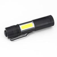 lanternas led aa venda por atacado-Caneta de Luz 4 Modos Portátil Mini LED Lanterna Tocha XPE LEVOU + COB Lanterna LED 800LM Caça Camping Luz Por AA / 14500 Bateria