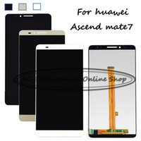 Wholesale Huawei Ascend Mate Smartphone - Wholesale- Black White Gold LCD+TP For Huawei Ascend Mate 7 Mate7 Mt7-TL09 Mt7-TL10 LCD Display with Touch Screen Digitizer Smartphone
