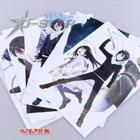 conjunto de cartazes de anime venda por atacado-Frete Grátis 8 pcs Anime Japonês Noragami Dos Desenhos Animados de Alta Qualidade Em Relevo Cartazes Cartaz 42x29 cm (8 pcs por conjunto)