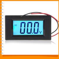 Wholesale Mini Voltmeter Blue - Wholesale-YB5135D DC 40-100V Portable Mini Digital Voltmeter Two Wire System Blue Backlight LCD Display Volt Meter Tester