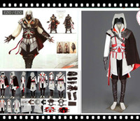 Wholesale Assassins Creed Costumes For Men - Best assassins creed high quality Various Sizes Halloween Costume Assassin Creed Ezio Adult Costume Cosplay Costume for sell