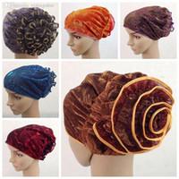 Wholesale Hijab Selling - Wholesale-Free shipping Hot selling muslim hat hijab islamic turban, Yoga cap, India women's inner caps flower hat