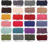 Wholesale Crochet Wide Headband Flower - PrettyBaby Women Winter Ear Warmer Headwrap Wide Crochet Headband Knit Flower Hairband women knitted twist headband free shipping in stock