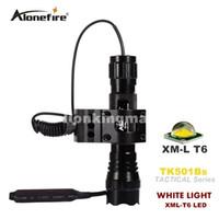 taktische pistole fackel großhandel-501B Tactical Flashlight 2000 Lumen T6 1 Mod- oder 5-Modus-Jagdgewehrbrenner Shotgun-Beleuchtung Schrotflintenhalterung + Taktische Halterung + Fernschalter