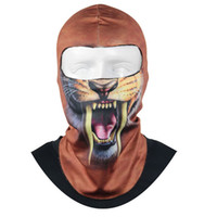 Wholesale Thin Beanie Wholesale - Wholesale- Yimistar #4024 Thin 3D Outdoor Cycling Ski Balaclava Neck Hood Full Face Mask Hat Beanie Animal