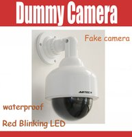Wholesale Dome Fake - New Style Emulational Fake camera Dome Dummy Camera for Home Security CCTV Camera with Red Blinking LED Waterproof outdoor & indoor use