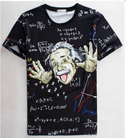 Wholesale T Shirt Prints For Boys - Math science T-shirt for boy girl Graphic 3d t shirt men women funny print Einstein t-shirt casual tops