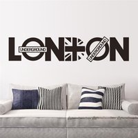 Wholesale Paper London - creative words LONDON wall stickers quotes room decoration 8345. diy vinyl adesivo de paredes home decals art posters papers 3.5