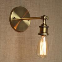 промышленная латунь оптовых-Бра Настенный Светильник Бра Эдисон Старинные Лампы Промышленные Ретро НОВЫЙ