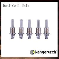 Wholesale Mini Clearomizers - Kanger Dual Coil Unit For Aerotank Aerotank Mega Aerotank Mini Evod Glass Protank3 EMOW DualCoil Unit For Kanger Clearomizers 100% Original
