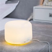 Wholesale Tabletop Night Lights - 300ML Ultrasonic Air Humidifier Essential Oil Aroma Diffuser Mist Maker Fogger with 7 Colors LED Night Light