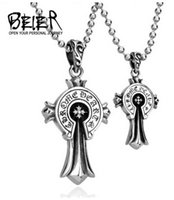 Wholesale Europe Style Fashion Pendant Necklace - BEIER 2016 fashion Hot style in Europe and America Damascus marks cross pendants lovers BP8-061 free shipping