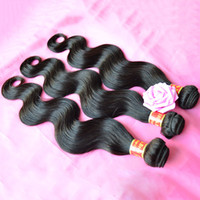 Wholesale Cheap 5a Brazilian Hair - Brazilian Virgin Hair Body Wave 100% Human Hair Weave Bundles Cheap 5A Peruvian Malaysian Indian Cambodian Remy Hair Extension Natural Black