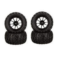 Wholesale hsp rc tires - 4Pcs High Performance 1 10 Truck Wheel Rim and Tire 8010 for Traxxas HSP Tamiya HPI Kyosho RC Car order<$18no track