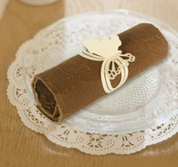 Wholesale Newest design butterfly shape napkin ring disposable napkin rings for wedding table decoration fancy napkin ring