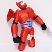 Wholesale Robots Video Games - 10pcs 10inch 25cm Big Hero 6 Baymax Plush Toy Stuffed Dolls Baymax Soft Orange Robot Doll With Tag Birthday Gift For Kids Retail