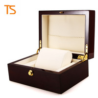 Wholesale Box For Pack Watches - factory watch boxes wholesale High quality Luxury brand wooden watch Boxes for men women watch box for packing Jewelry box free shipping