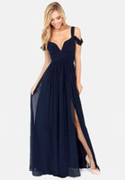 Wholesale Casual Chiffon Navy Dress - 2016 new arrive fashion Summer women's Dresses v neck Chiffon dresses womens sleeve sexy party dress Casual Dresses navy 0802