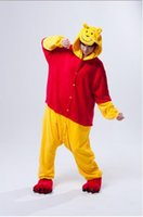 Wholesale Cheap Japanese Cosplay - 2014 New Lovely Cheap The Winnie Pooh Kigurumi Pajamas Anime Pyjamas Cosplay Costume Adult Unisex Onesie Dress Sleepwear