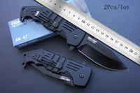 faca dobrável ak venda por atacado-Transporte da gota Cold Steel AK-47 Sobrevivência Tático faca dobrável Ourdoor resgate faca de sobrevivência AK47 facas Novo na embalagem da caixa de papel original