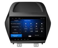 3g rad großhandel-Freies Verschiffen Android 6.0 9 Zoll Auto-DVD Gps für Hyundai Ix35 Tucson 4-Kern-Lenkradsteuer-phonelink Wifi 3G DVR