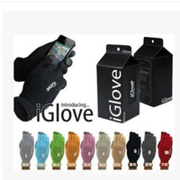Wholesale capacitive screen gloves - Fashion Adults Iglove For Ipad Smart Phone Capacitive Touch Screen Gloves Telescopic Acrylic Fibres Knitting Glove High Quality 3zx B