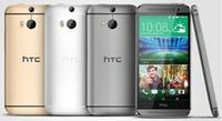 мобильные телефоны m8 оптовых-Восстановленный 100% оригинальный HTC One M8 сотовый телефон 5 '' Quad Core 32GB / 16GB 4G LTE-FDD 3G WCDMA 2G GSM