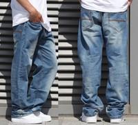 Wholesale Jeans Large Hip Hop - New Fashion Popular skateboard pants baggy jeans Men's Hip Hop Leisure pants Trousers large size 30-46 -077#